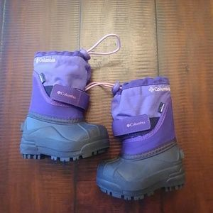 Toddler Columbia Twin Tundra Purple Snow Boots